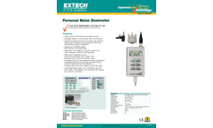 Extech - Model 407355 - Noise Dosimeter/Datalogger with PC Interface - Datasheet