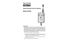 Extech - Model 407355 - Noise Dosimeter with PC Interface - User Manual