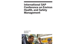 SAP Conference on Environment, Health, and Safety Management
