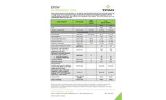 Titan - Model EPDM - Ethylene Propylene Diene Monomer Geomembranes Brochure