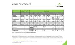 Titan - Woven Geotextiles  Brochure