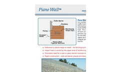 Piano Wall - MSE Precast Retaining Wall with Traffic Barrier - Flyer