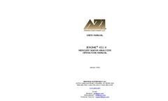 Jerome 431-X Mercury Vapor Analyzer Operation Manual