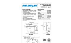 Big Dipper W-250-IS-SS Sealed-Stainless Automatic Grease Removal Device Specification Sheet