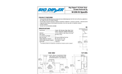 Big Dipper W-250-IS Automatic Grease Removal Device Specification Sheet