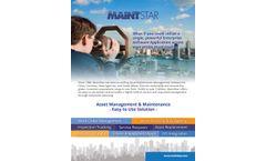 MaintStar - Enterprise Asset Management (EAMS) Software - Brochure