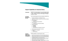 Support Capabilities for Industrial Clients- Brochure