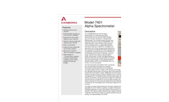 Alpha - Model 7401 - Spectrometer Brochure