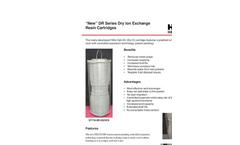 New DR Series Dry Ion Exchange Resin Cartridges Brochure