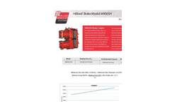 Hilliard M900SH Brake Caliper - Technical Datasheet