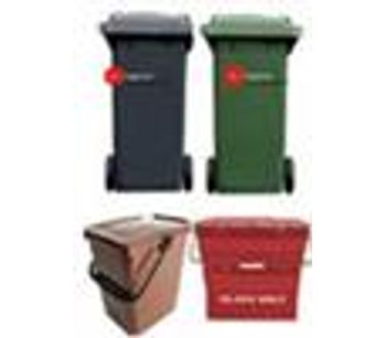 Ecological - 2 Black/Green 240L/Compost caddy Bin Collections per month   1 FREE GLASS COLLECTION