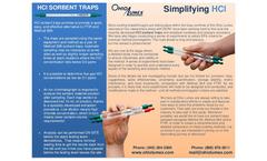 Hydrogen Chloride and Hydrogen Bromide Sorbent Traps Brochure