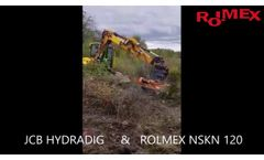 JCB HYDRADIG with Flail Head NSKN-120. Mulching Branches - Video