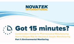 Novatek Environmental Monitoring Software for Contamination Control