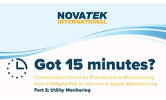 Novatek Utility Monitoring for Contamination Control