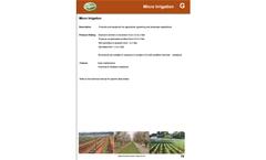 Karavas - Model PC & PCND - Micro - Irrigation & Sprinklers - Datasheet