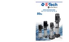 EV Series 50Hz - Vertical Multistage Centrifugal Pumps Brochure