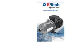 EH Series 50Hz - Stainless Steel Horizontal Multistage Pump Brochure