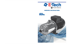 EH Series 60Hz - Stainless Steel Horizontal Multistage Pump Brochure