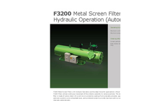 Model F3200 - Metal Screen Filter with Hydraulic Operation Brochure