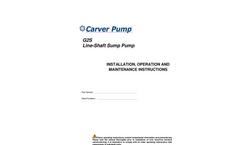 Carver - Model G2S - Vertical Sump Pump  - Brochure