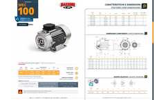 Mazzoni - Model MEC 100 - Electrical Motor Brochure
