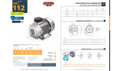 Mazzoni - Model MEC 112 - Electrical Motor Brochure