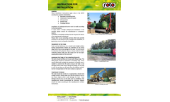 Roto RoSeptic - Model 1.000 L - 2-Chambers Septic Tanks Manual