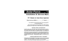 Installation Manual Brochure