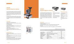 Hanon - Model SH220F - Kjeldahl Digestion Ststem - Datasheet