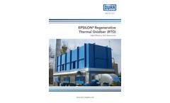 Dürr Megtec –  Epsilon® Regenerative Thermal Oxidizer RTO – Brochure