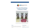 Microbiology Proficiency Testing Cannabis - Brochure