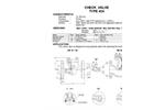 Model TYPE 454 - 63 Bar Check Valves Brochure