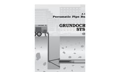 Grundocrack - Pneumatic Pipe Bursting System - Brochure