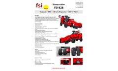 FSI - Model B28 - Self-Propelled Stump Cutter with 2WD and Gasoline Engine - Brochure