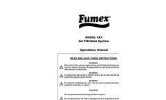 Fumex - Model FA1 - Industrial Indoor Air Cleaner Brochure