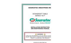 Model Series SCT - Downdraft Tables and Benches - Manual