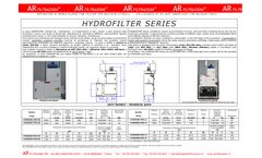 AR Filtrazioni - Model Hydrofilter Series - Air Cleaners of Oil Mist Smoke Dust for Machine Tools - Datasheet