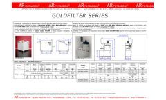 AR Filtrazioni - Model Goldfilter Series - Air Cleaners of Oil Mist Smoke Dust for Machine Tools - Datasheet