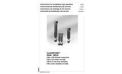 Clearpoint - Model V - Activated Carbon Adsorber / Activated Carbon Filter Brochure