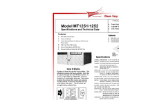 Model MT1251/MT1252 - Ambient Air Cleaning Systems Brochure