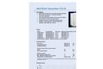 Kalthoff - Model WU - Panel Filter Brochure