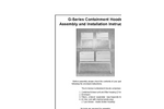 G-Series - Containment Hoods Assembly and Installation Instructions Manual