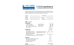 Model C4651 - Continuous Float Level Sensor with 1/4