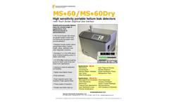 Model MS-60 - High Sensitivity Portable Helium Leak Detector - Datasheet