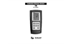 Model 708 - Combustion Efficiency Analyzer with Flue Probe Manual