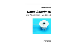 Type GS1 & GS2  - Dome Solarimeter and Albedometer - User Manual
