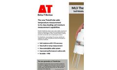 Delta-T ThetaProbe - Model ML3 - Soil Moisture Sensor - Datasheet