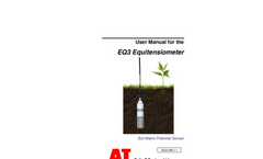 Delta-T - Model EQ3 - Equitensiometer - User Manual