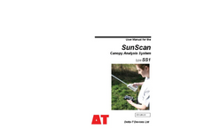 Delta-T SunScan - Model SS1 - Canopy Analysis Systems - User Manual